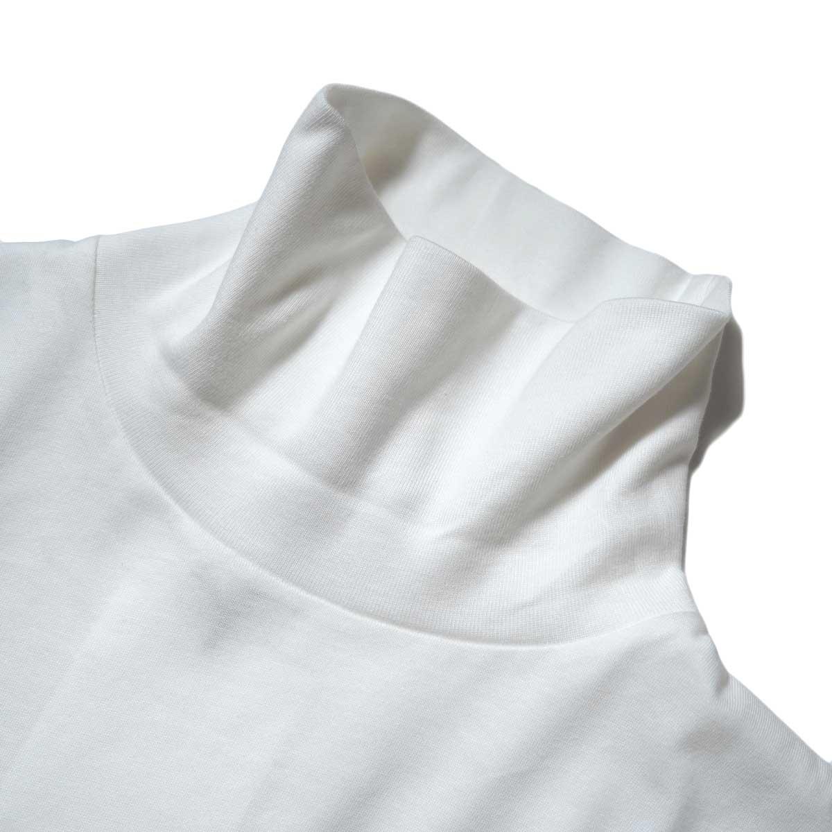 YLEVE / SOFT ORGANIC COTTON TURTLE (White) ネック
