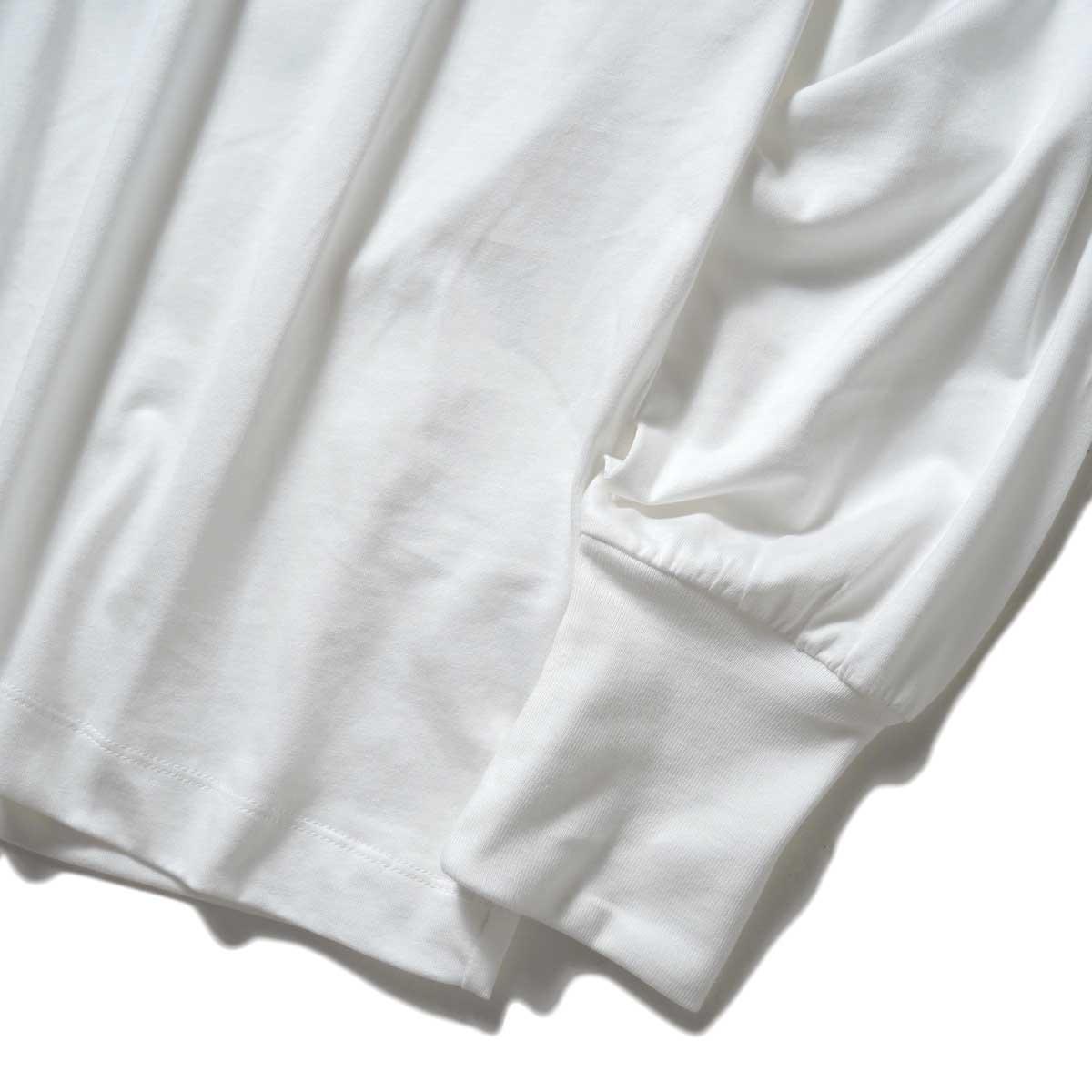 YLEVE / SOFT ORGANIC COTTON TURTLE (White) 袖・裾
