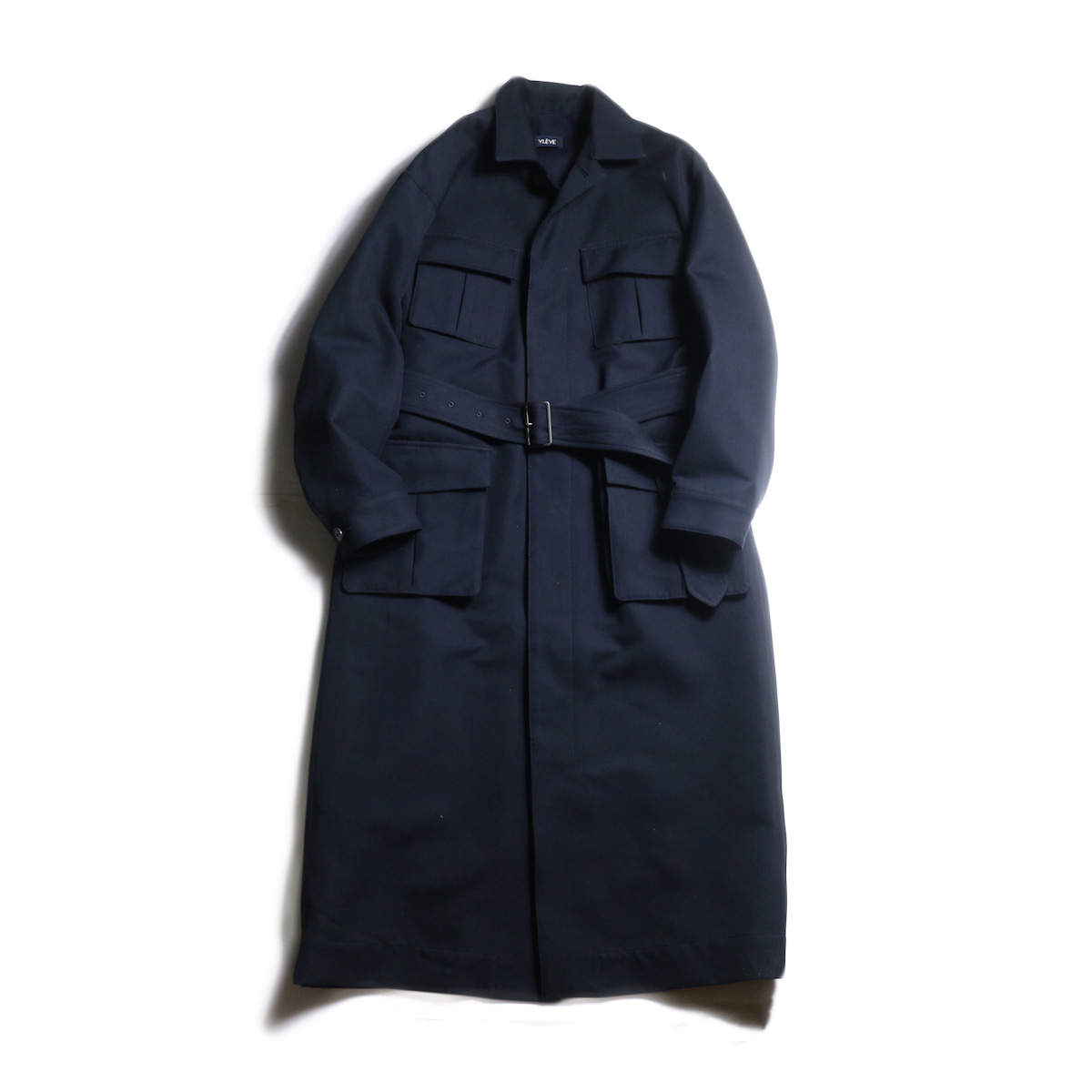 YLEVE / Cotton High Count Twill Co (Navy)