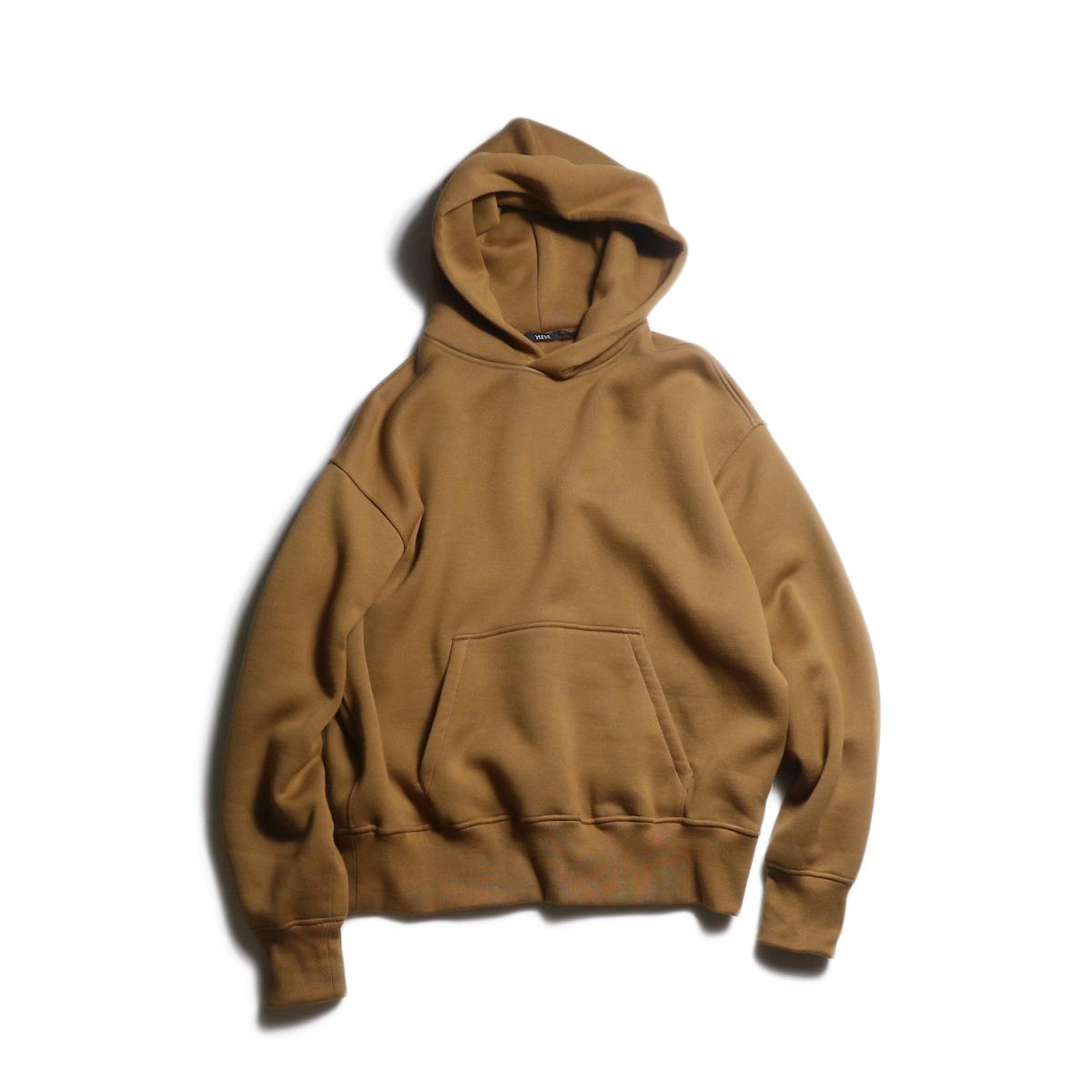 YLEVE / Fine Cotton Fleece Hoodie (Camel)