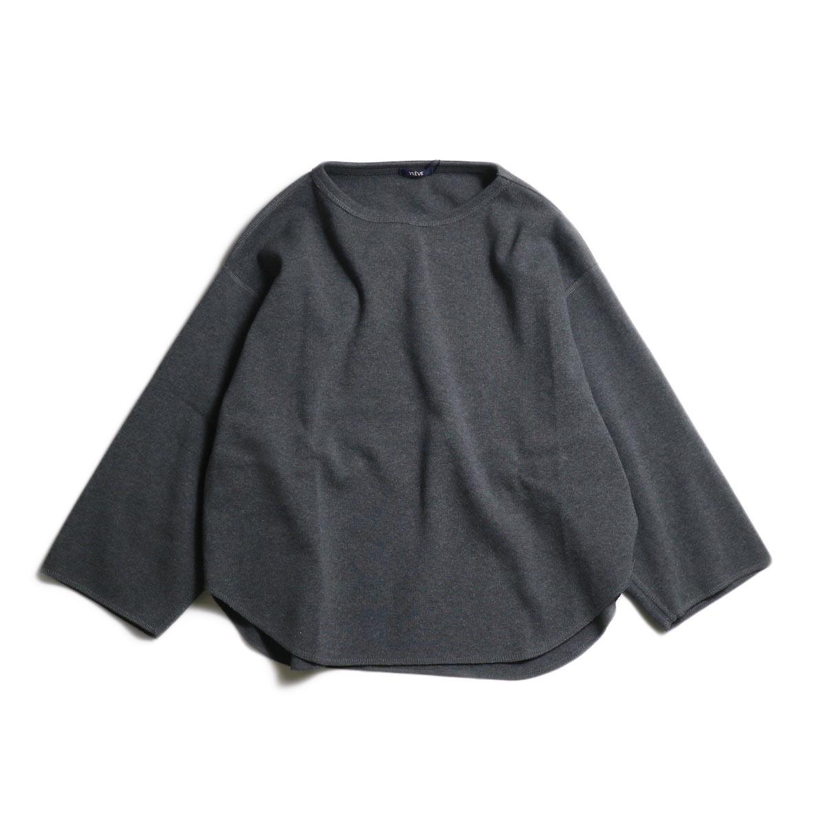 YLEVE / Cotton Rib Heather Grey P/O (Charcoal)