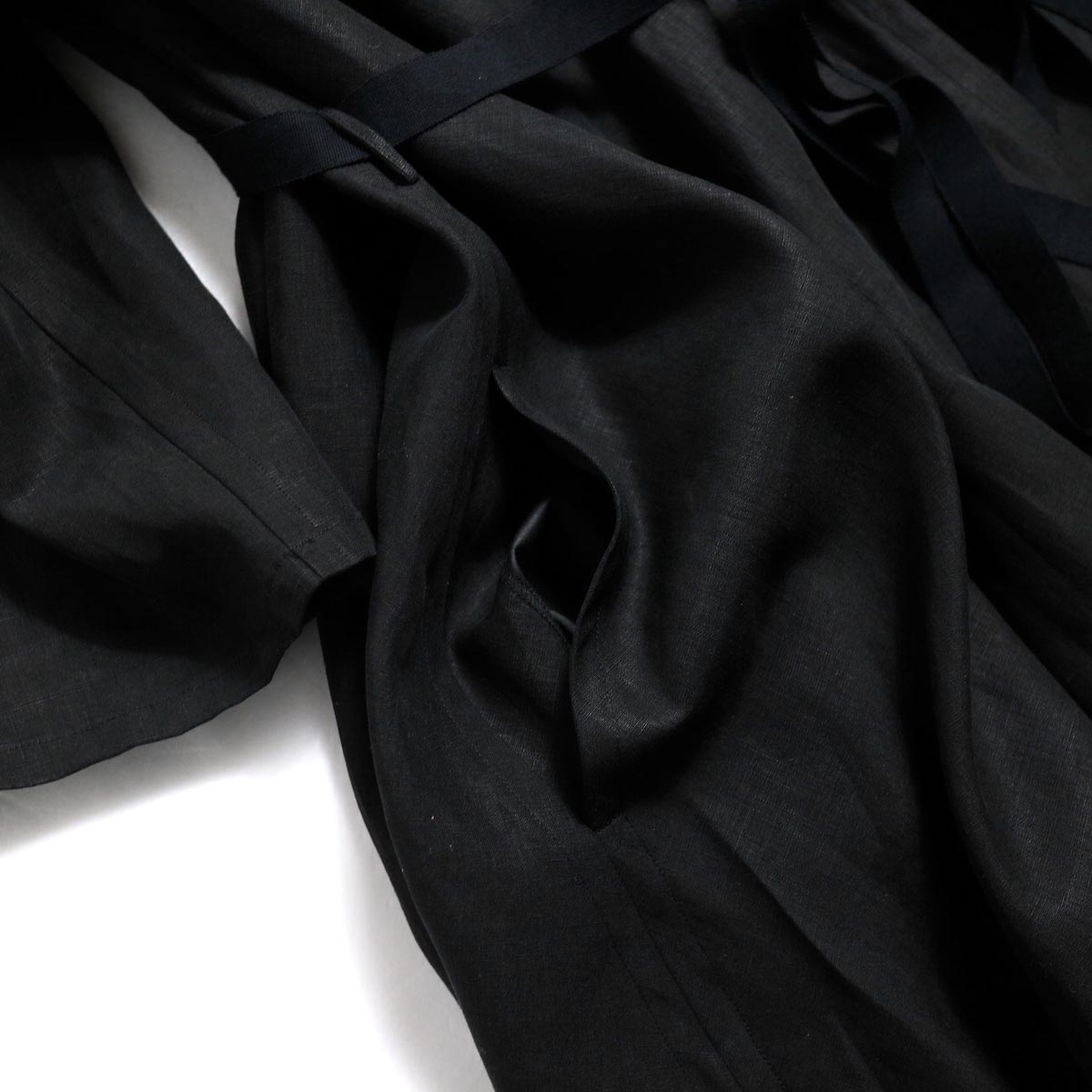 YLEVE / Linen Cotton KN CD -Black ポケット