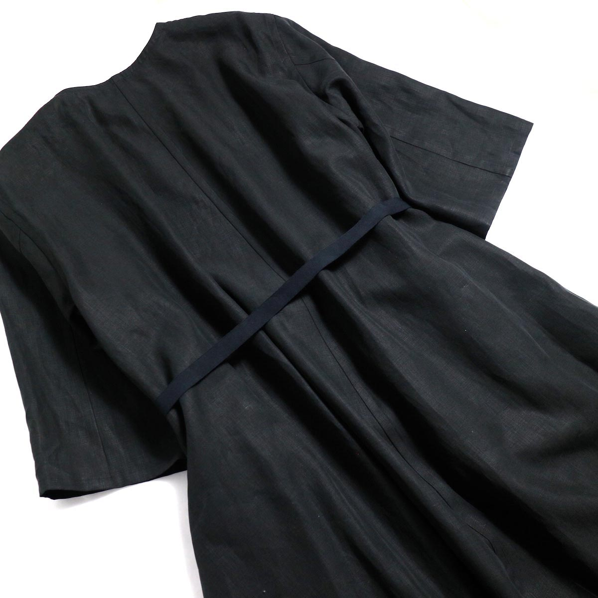 YLEVE / Linen Cotton KN CD -Black 背面ウエストベルト