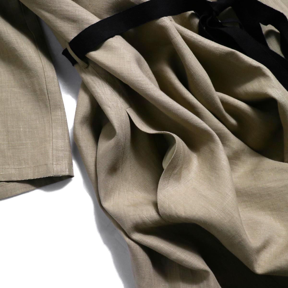 YLEVE / Linen Cotton KN CD -Camel ポケット
