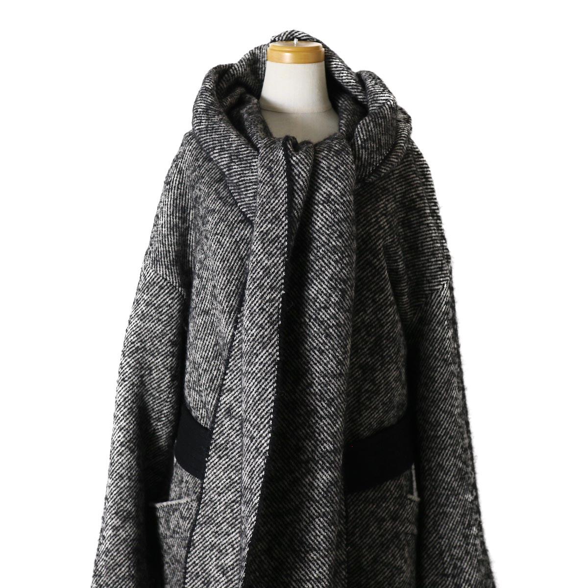 YLEVE / Monotone Tweed Coat 首元2