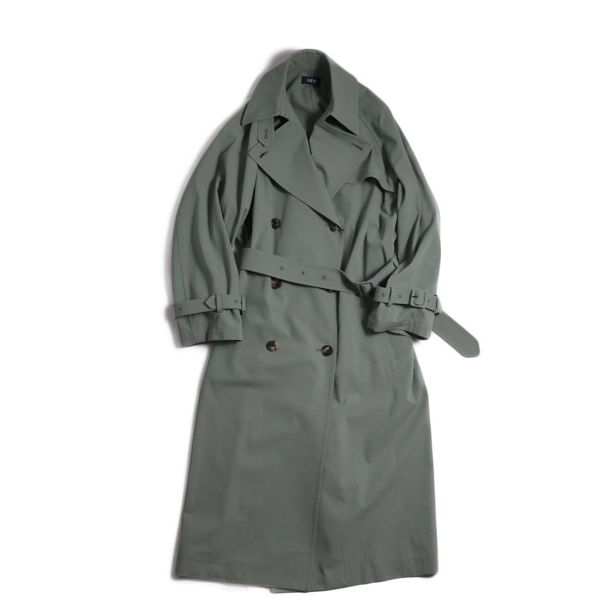 YLEVE / Cotton/Linen High Twist Twill Coat -Sage