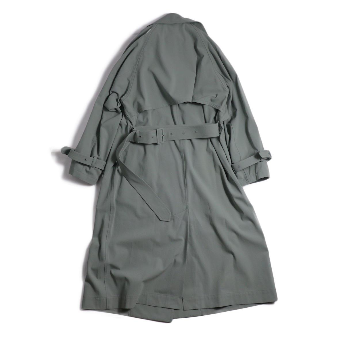 YLEVE / Cotton/Linen High Twist Twill Coat -Sage 背面