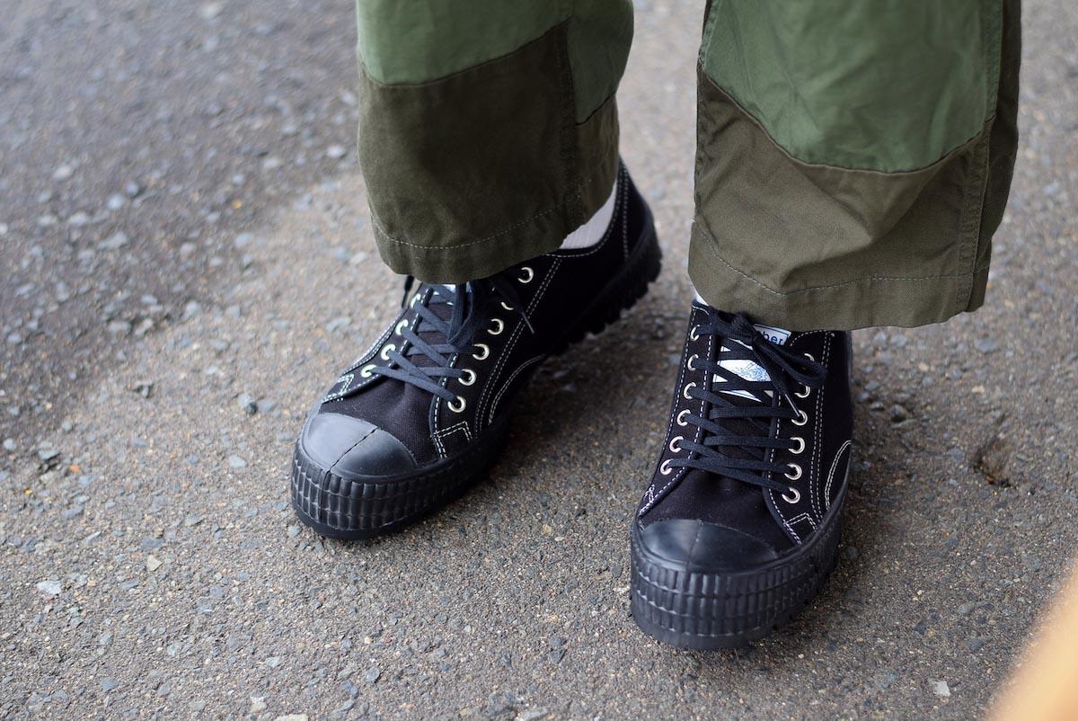 ZDA / 2100-F Climber Sole Cnavas Sneaker (Black)着用①
