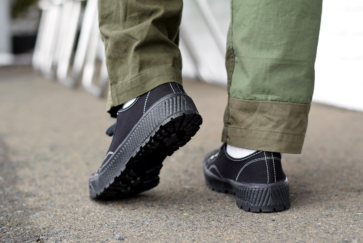 ZDA / 2100-F Climber Sole Cnavas Sneaker (Black)着用③