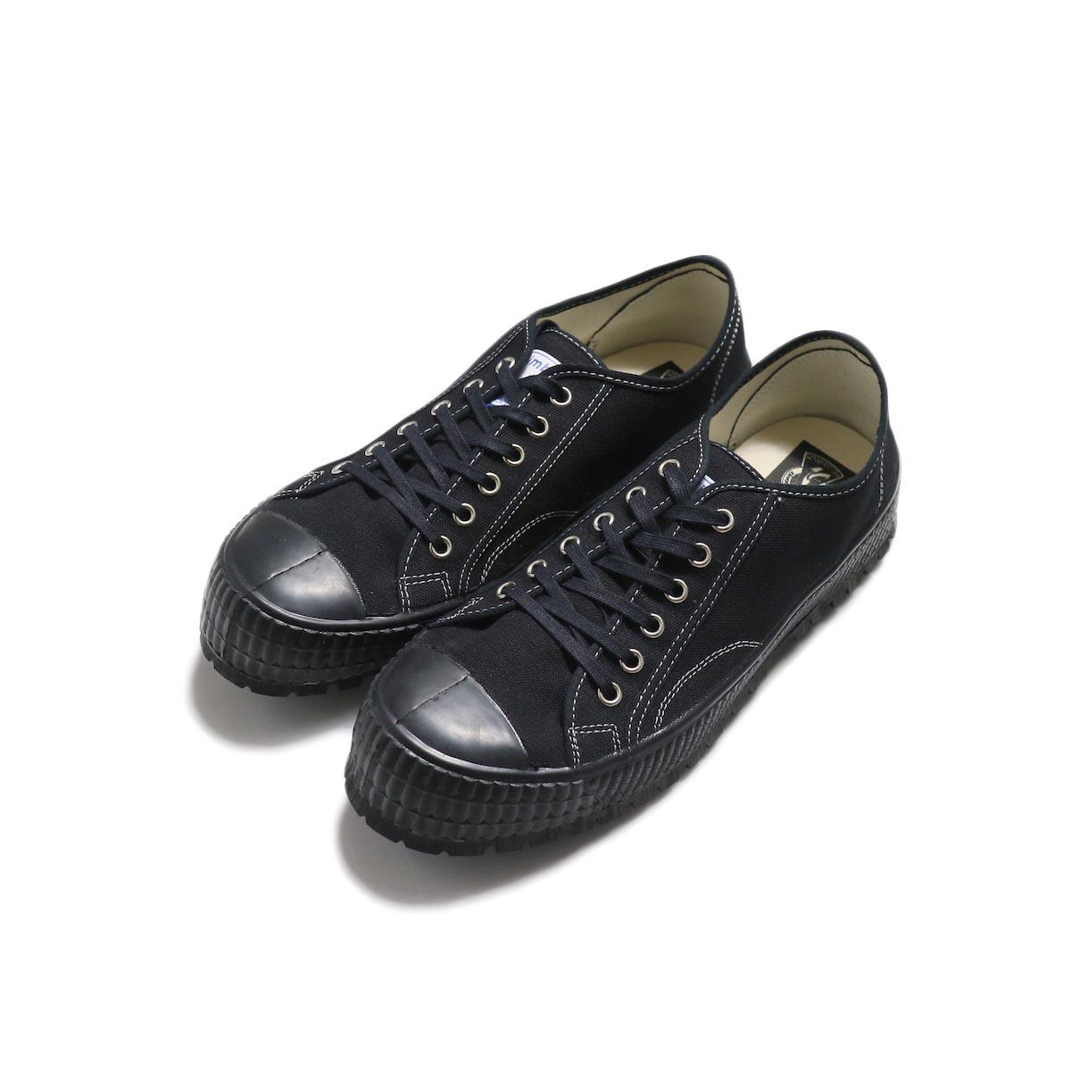 ZDA / 2100-F Climber Sole Cnavas Sneaker (Black)全体