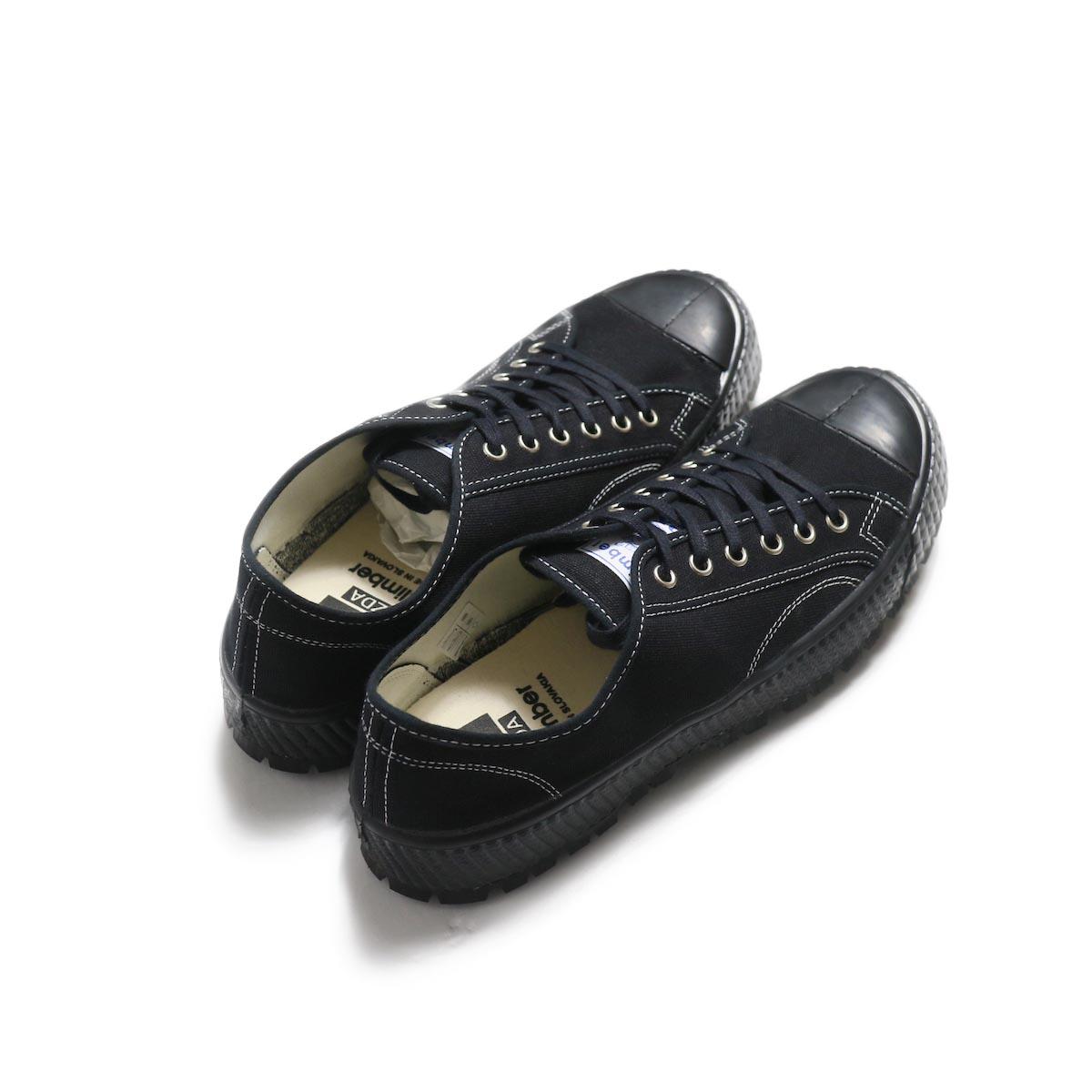 ZDA / 2100-F Climber Sole Cnavas Sneaker (Black)背面