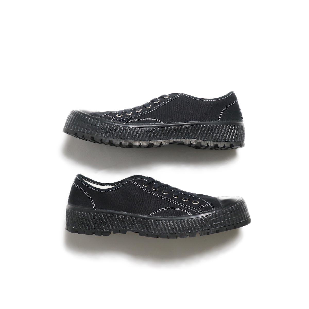 ZDA / 2100-F Climber Sole Cnavas Sneaker (Black)サイド
