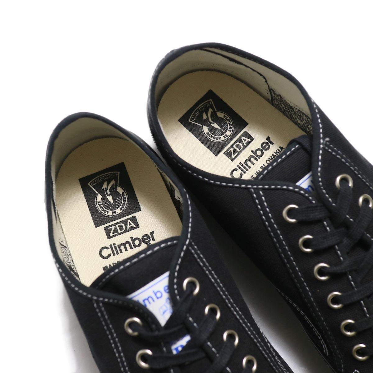 ZDA / 2100-F Climber Sole Cnavas Sneaker (Black)インソール